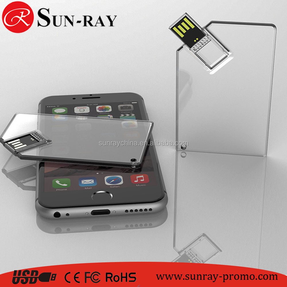 16gb CMYK print logo crystal card USB disk usb drive usb memory with transparent color