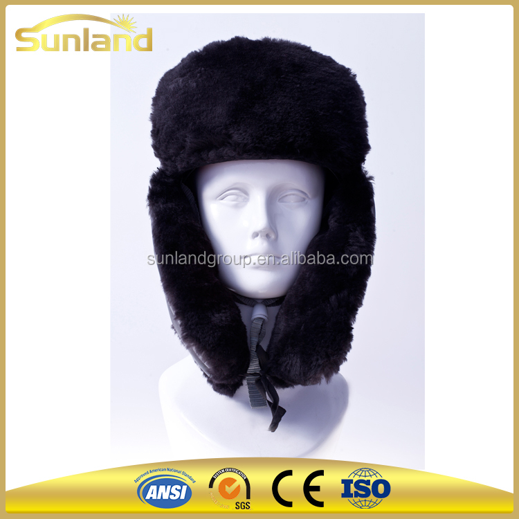 Cold weather safety helmet cap for head protection