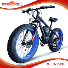 Sobowo S19-10A (black and blue) Al Alloy Frame Fat tire cross bar Electric Bicycel with 150km Long Range