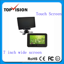 DC12V ,7.5W stand alone car monitor with 7 tft lcd touch button