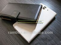 Rock High Quality Genuine Leather Flip Cover Case for Sony Xperia Z L36H