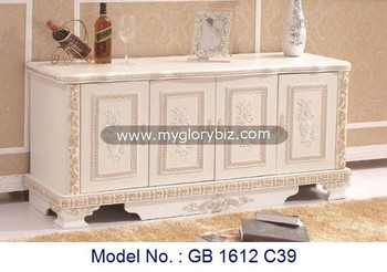 White High Class MDF TV Cabinet In Elegant Style, living room furniture design, mdf wooden furniture