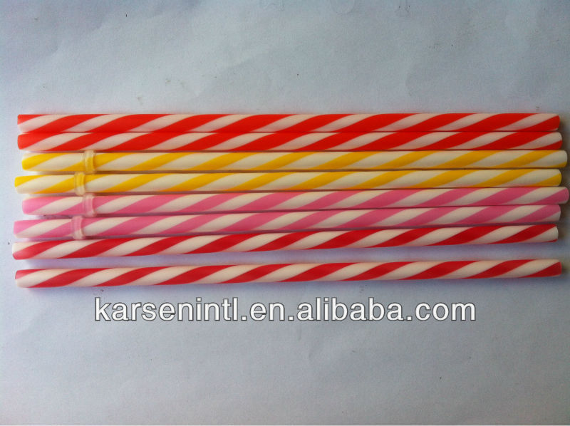 Candy Bar straw wholesale, bicolored party drinking tube