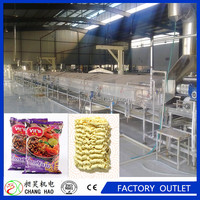 Automatic industrial fried instant noodles making machinery/noodle plant production line