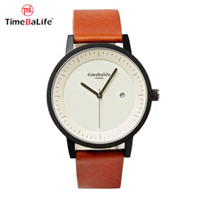 OEM Custom Logo Simple Design Unisex Men Woman Ultra- thin Leather Minimalist Wrist Watch