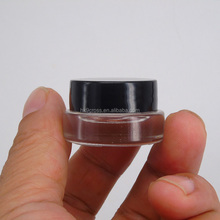 Skincare make up empty mini cosmetic jar 3g 5g glass jar with screw cap