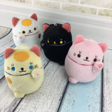 Wholesale kawaii soft cuddly children gift furry cat toys