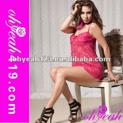 Hot sale paypal accept charming woman pink sexy nude sleepwear
