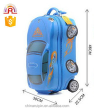"Blue Car Fire printing boy rolling Luggage kids school bag 18"" EVA"