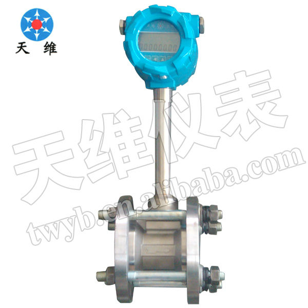 With temperature and pressure compensated flowmeter