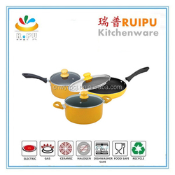 New Products On Market Cookware play Set,cook set,cookware with powder paint