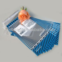 Fashional recyclable plastic clothes bag clear opp packing bag