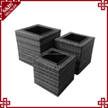 Wholesales rattan planter for flowers and plants with plastic planter box