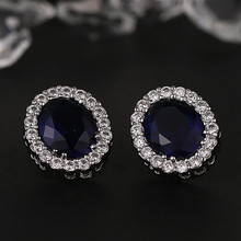 Professional Made Oval Crystal Girl Party Korea Fashion Earrings