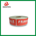25.4x76.2X1000 Fragile warningshipping label