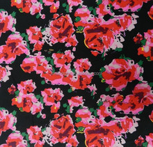 nylon spandex floral printed swimwear fabric from china supplier