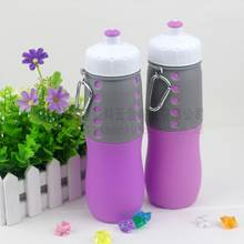 Outdoor Portable Squeeze Sports Drink Bottle Silicone Foldable Water Bottle