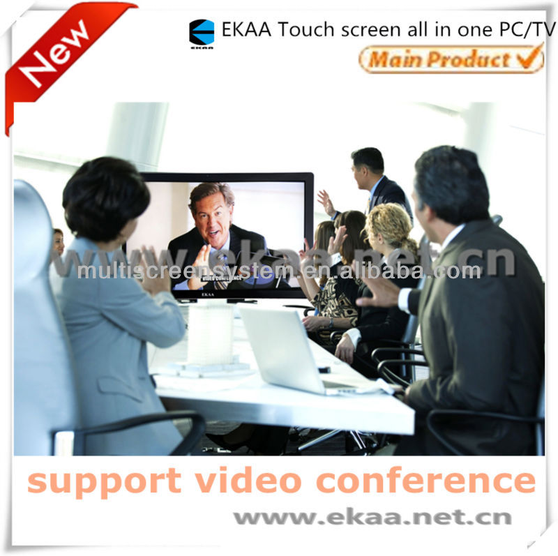 84inch Infrared 4dot multi touch screen monitor /touch interactive panel all in one keyboard pc for office meeting room