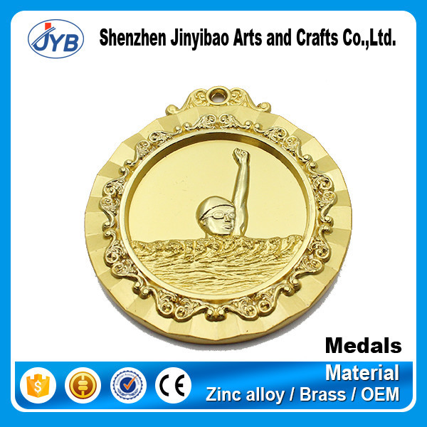 High Quality Cheap Swimming Sport Medal with Customized Logo