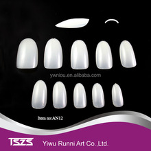 factory sell Full Cover Oval shape natural False Artificial ABS Nail Art Tips