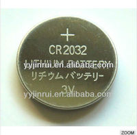 CR2032 3v lithium cr2032 button cell battery pack