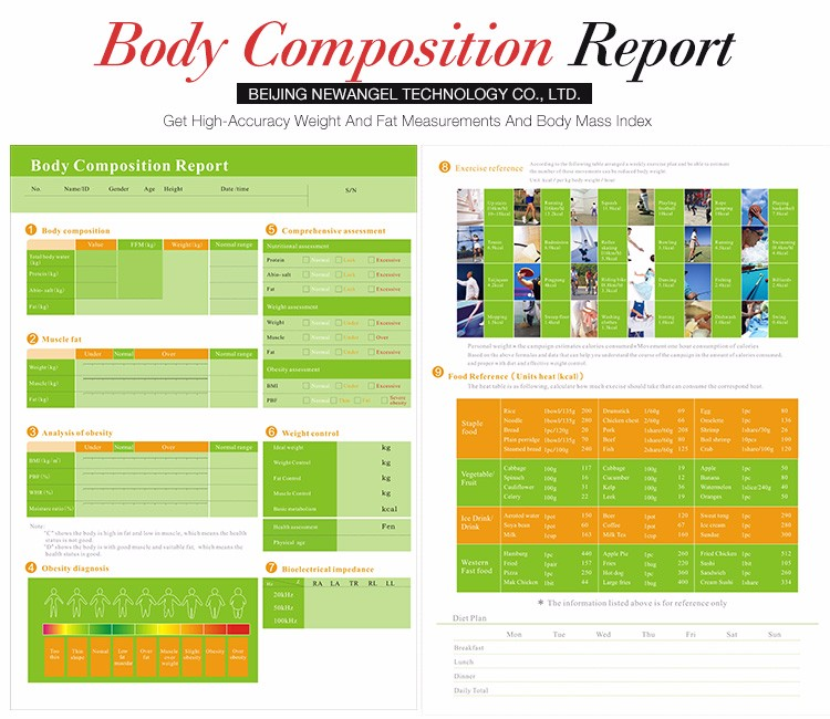 2017 body health detect composition auto analyzer price