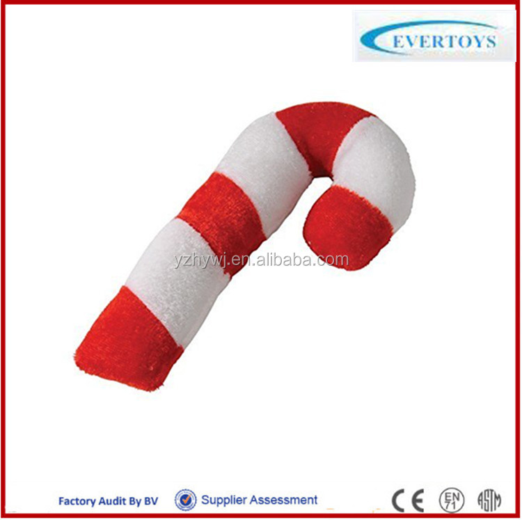 hot sale christmas plush stuffed candy cane toy