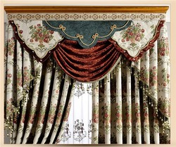 Floral Embroidered Turkey Curtains