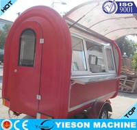 fiberglass caravan factory/mobile fast food van for sale