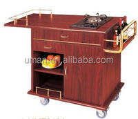 Wooden Flambe Cart/cooking cart/cooking trolley