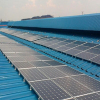 Tin Roof PV Solar Panel Aluminum Mounting System , solar brackets, commercial solar system