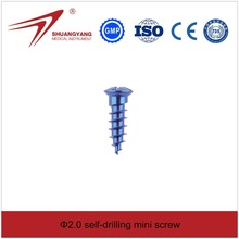 Self drilling titanium surgical mini screw for maxillofacial, China surgical screw manufacturer