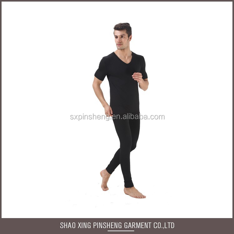 Size Customized Made in China Pure black thick thermal underwear