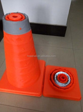PP/ABS+Reflective fabric Reflective Retractable Road Cone
