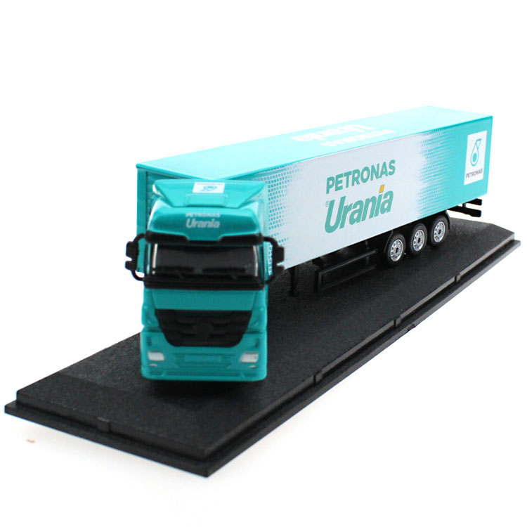 1:87 Scale Long-Distance Petrol Cargo Truck Models Shipping Container Model Car