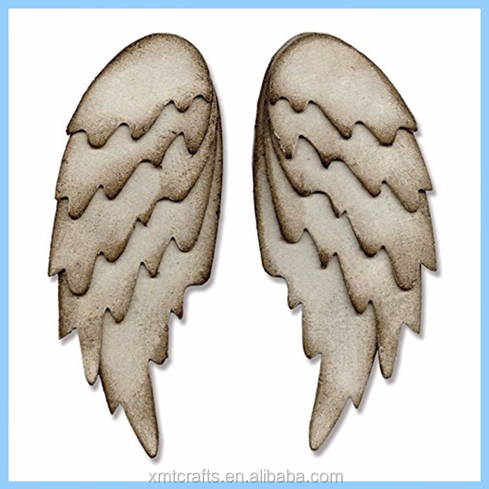 hotsale 3D pretty wall ornaments resin angel wings sculptures for sale