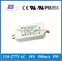 9W 18V 500mA High Power Constant Current LED Driver with ELV Dimmer