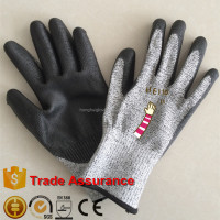 Cut Resistant Level 5 PU Coated Gloves for Glass Industry Cut Protection Work Gloves