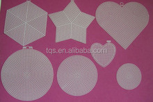 DIY material cross stitch Plastic canvas sheets and shapes /hearts,star,round,Hexagon