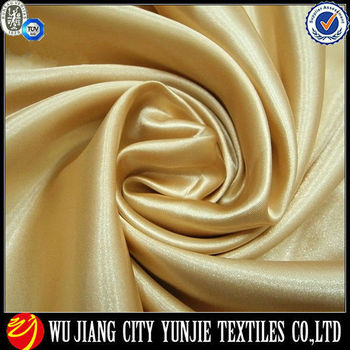 Polyester Spring satin bright fabric for shirts