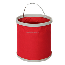 11L Red Large Outdoor Portable Fishing Folding flat water Bucket