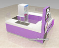 Attractive white and purple fried ice cream roll kiosk , roll ice cream kiosk design for sale