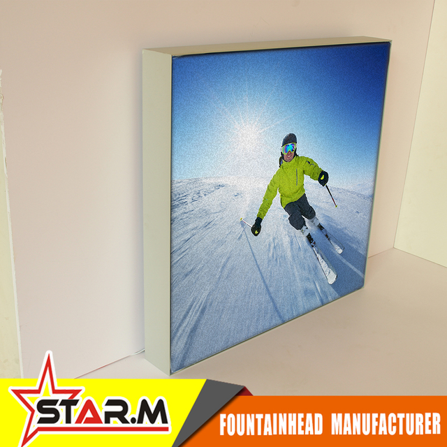 Anodized aluminum frame for signboard frameless picture frame fabric face light box