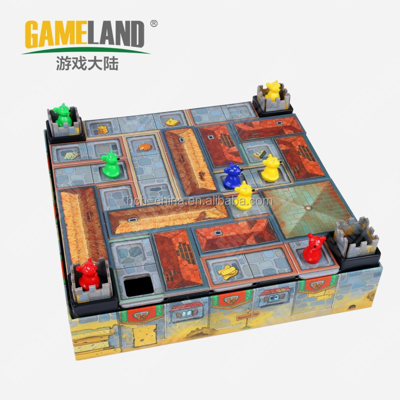 Custom Goard Games Castle Game with Plastic Game Board Pieces