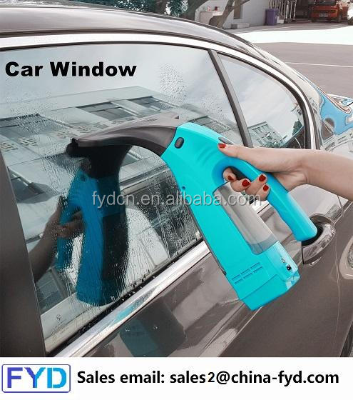 Rechargeable cordless car window cleaner