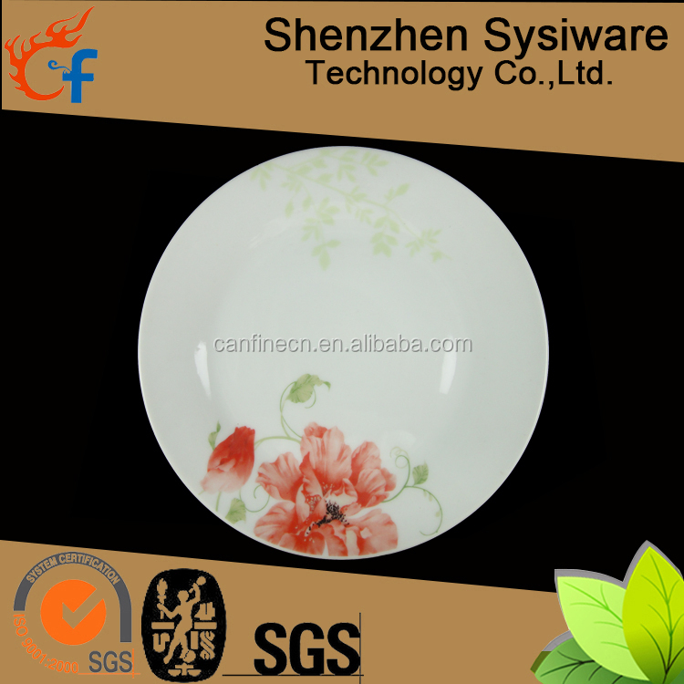Wholesale high quality ceramic dinner plate set,cheap colorful porcelain dinner plate