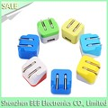 VI efficiency approved usb wall charger foldable US EU plug hot selling in USA stores