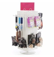 Revolvable Detachable Multi-Tier Metal Pegboard Jewelry display Stand