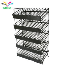 Customized Supermarket Storage Shelf Wire Metal wine display stand