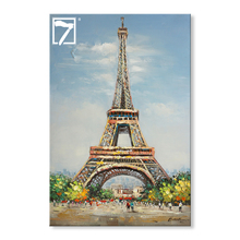 Popular Acrylic Painting oil canvas painting Landscape Eiffel Tower paintings art on canvas